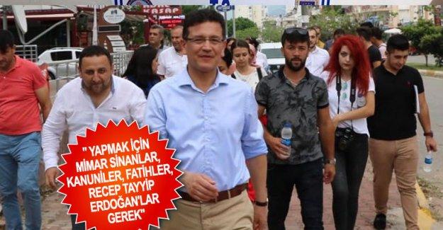 """"""" Yapmak için Mimar Sinanlar, Kanuniler, Fatihler, Recep Tayyip Erdoğan'lar gerek"""""""