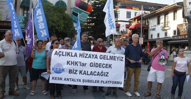 KESK'ten KHK protestosu