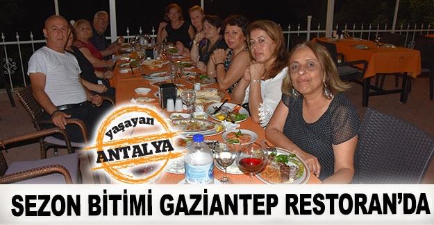 Sezon bitimi Gaziantep Restoran'da