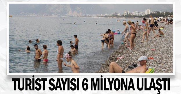 Turist sayısı 6 milyona ulaştı
