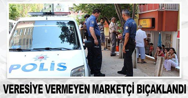 Veresiye vermeyen marketçi bıçaklandı