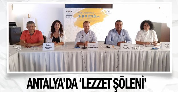 Antalya'da 'lezzet şöleni'