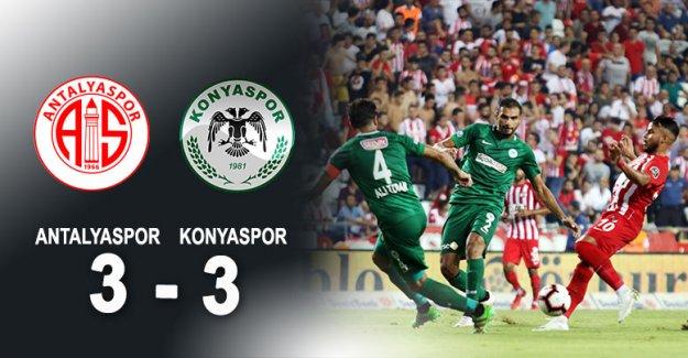 Antalyaspor: 3  Konyaspor: 3