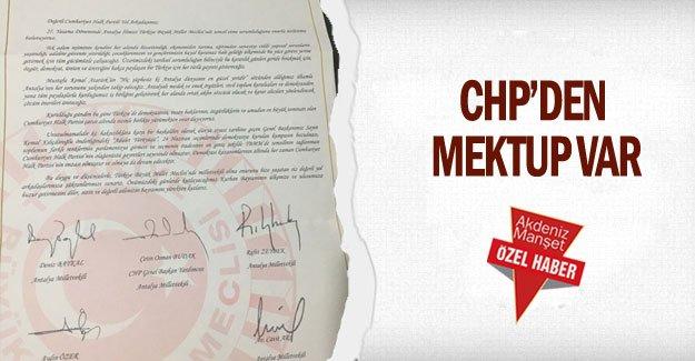 CHP'den mektup var