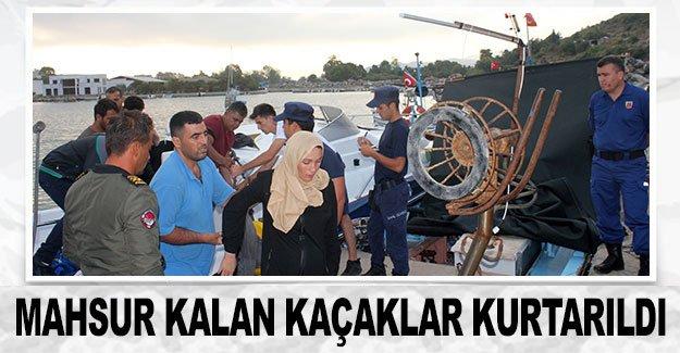 Mahsur kalan kaçaklar kurtarıldı