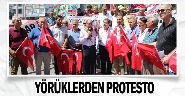 Yörüklerden protesto