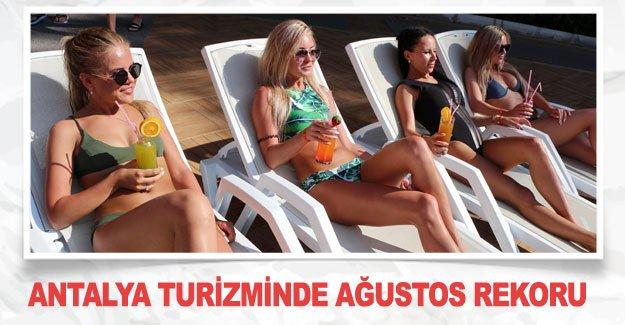 Antalya turizminde ağustos rekoru