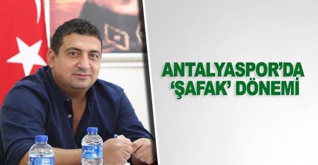 Antalyaspor'da  'Şafak'dönemi