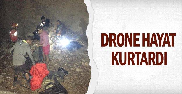 Drone hayat kurtardı