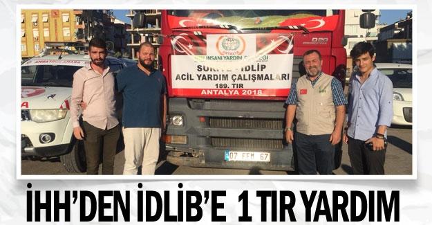 İHH'den İdlib'e  1 TIR yardım