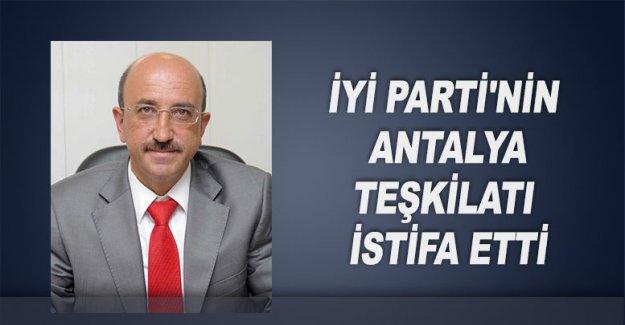 İYİ Parti'nin Antalya teşkilatı istifa etti