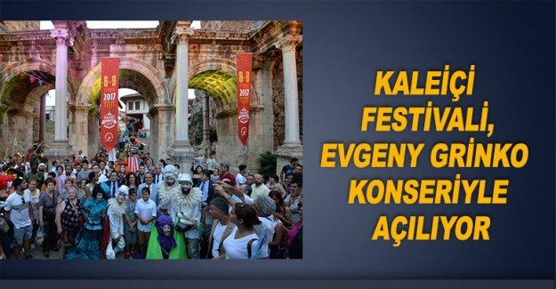 Kaleiçi Festivali, Evgeny Grinko konseriyle açılıyor