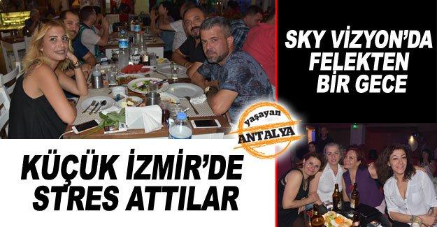 Küçük İzmir'de stres attılar