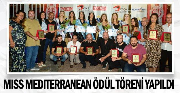 Miss Mediterranean ödül töreni yapıldı