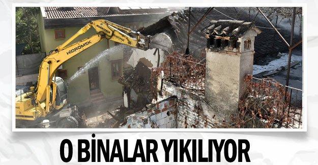 O binalar yıkılıyor
