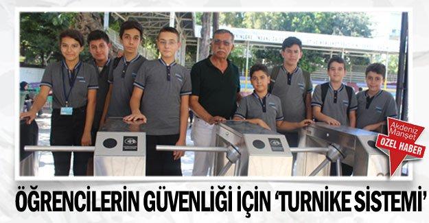 Öğrencilerin güvenliği  için 'turnike sistemi'