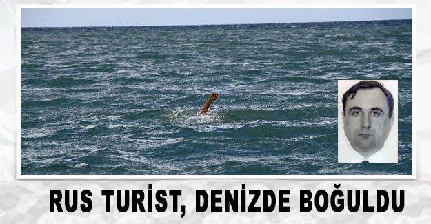 Rus turist, denizde boğuldu