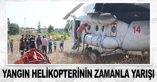 Yangın helikopterinin zamanla yarışı