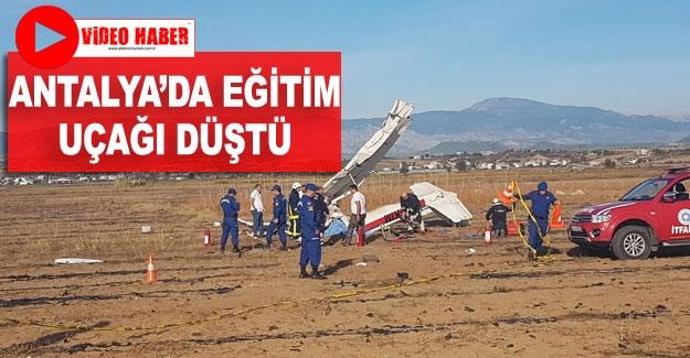 Antalya'da eğitim uçağı düştü