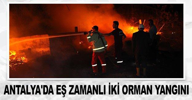 Antalya'da eş zamanlı iki orman yangını