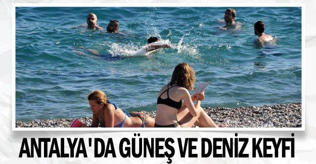 Antalya'da güneş ve deniz keyfi
