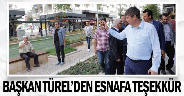Başkan Türel'den esnafa teşekkür