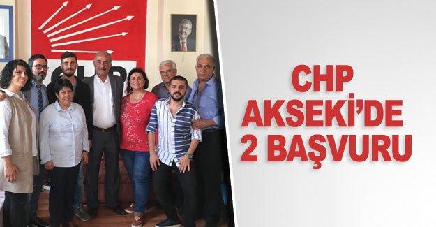 CHP Akseki'de 2 başvuru