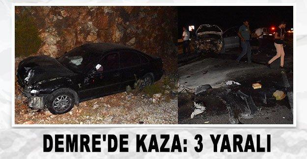 Demre'de kaza: 3 yaralı