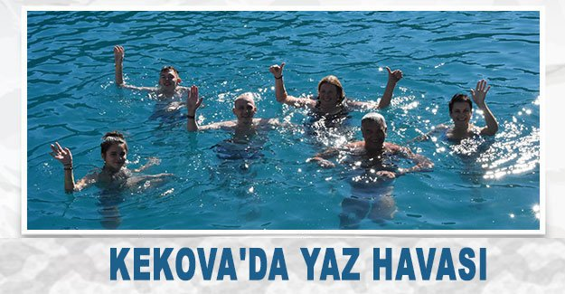 Kekova'da yaz havası