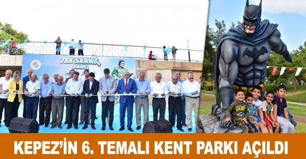 Kepez'in 6. temalı kent parkı açıldı