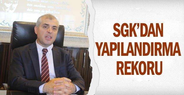 SGK'dan yapılandırma rekoru