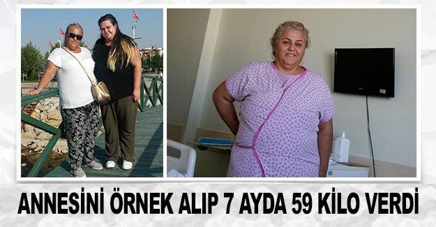Annesini örnek alıp 7 ayda 59 kilo verdi