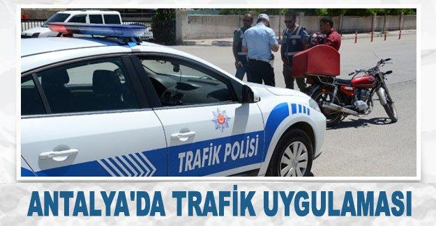 Antalya'da trafik uygulaması