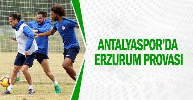 Antalyaspor'da Erzurum provası