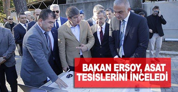 Bakan Ersoy, ASAT tesislerini inceledi