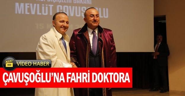 Çavuşoğlu'na fahri doktora