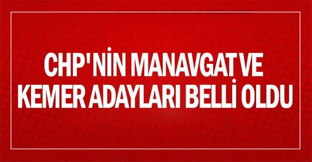 CHP'nin Manavgat ve Kemer adayları belli oldu