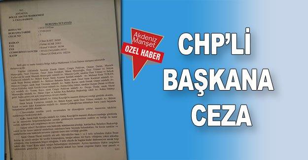 CHP'li başkana ceza