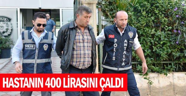 Hastanın 400 lirasını çaldı