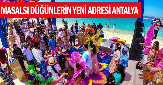 Masalsı düğünlerin yeni adresi Antalya