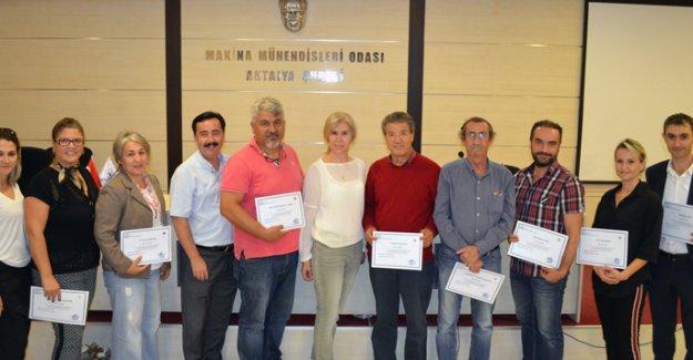 MMO'da 'bilirkişilik' sertifika töreni