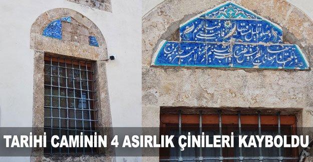 Tarihi caminin 4 asırlık çinileri kayboldu