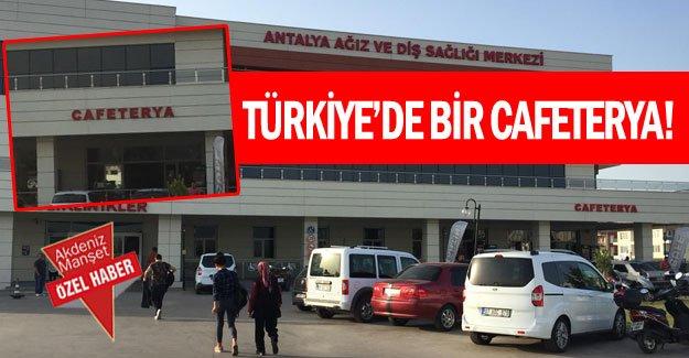 Türkiye'de bir cafeterya!