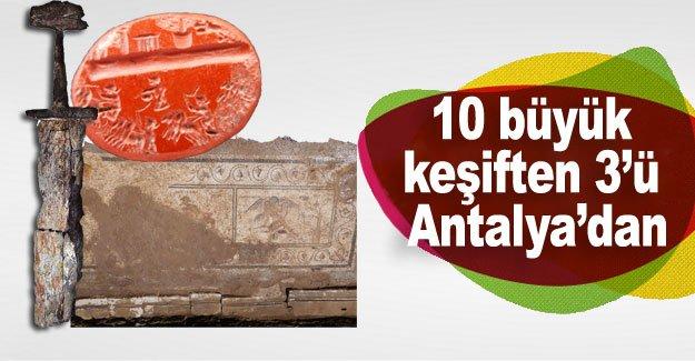 10 büyük keşiften 3'ü Antalya'dan