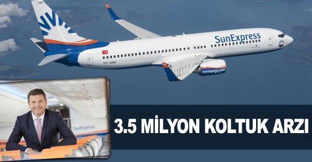 3.5 milyon koltuk arzı