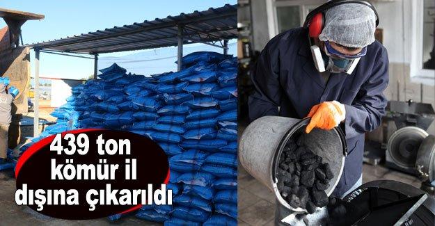 439 ton kömür il dışına çıkarıldı
