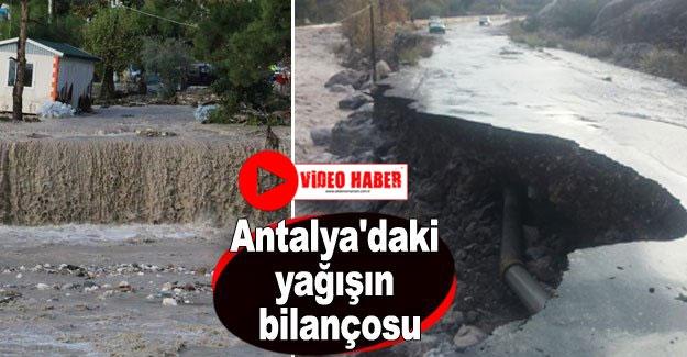 Antalya'daki yağışın bilançosu