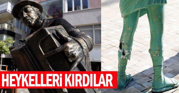 Antalya'yı güzelleştiren heykelleri kırdılar