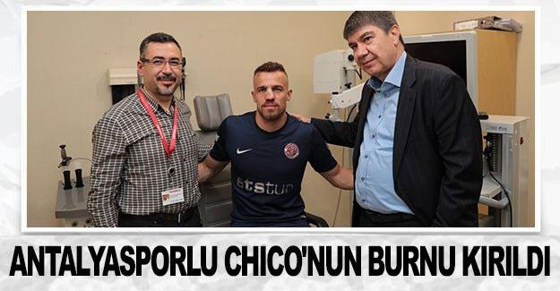 Antalyasporlu Chico'nun burnu kırıldı