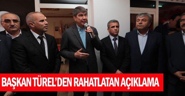 Başkan Türel'den rahatlatan açıklama